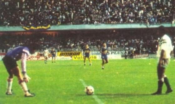 Imagen del partido entre Boca y Petroleros en 1991. - League of Legends