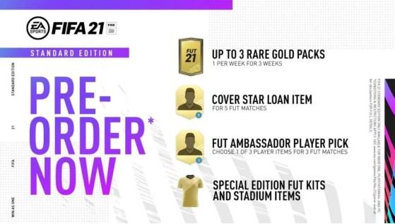 Contenido de la Standard Edition - FIFA 21
