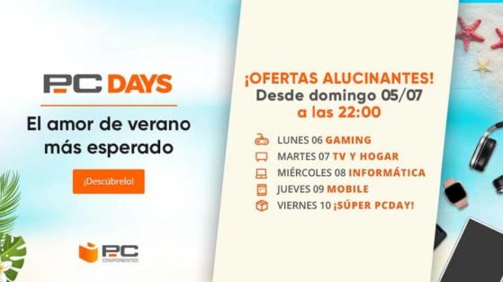 Portátiles, discos duros, monitores... 7 ofertas muy locas de los Gaming Days de PCComponentes