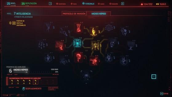 El árbol de talentos de inteligencia - Cyberpunk 2077