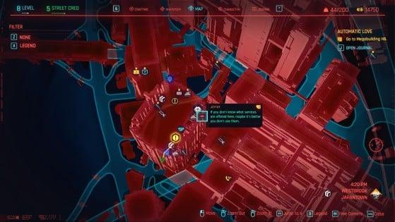Ubicación en el mapa. - Cyberpunk 2077