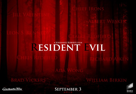 El póster de la película de Resident Evil se inspira en Resident Evil 4 y confirma sus personajes