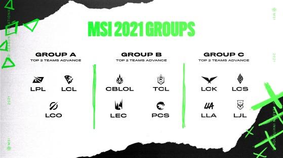 Así quedan los grupos. - League of Legends