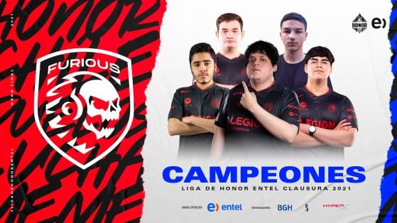 LoL: Furious Gaming consigue su primero trofeo en la Liga de Honor Entel Clausura 2021
