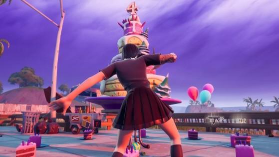 Fortnite: Baila delante de tartas, desafío del evento de Cumpleaños de 2021