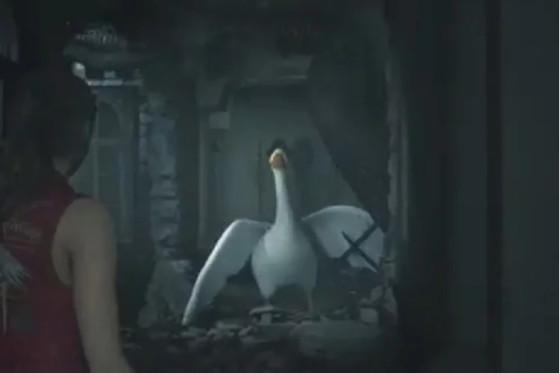 El ganso de Untitled Goose Game se cuela en Resident Evil 2 Remake con un mod