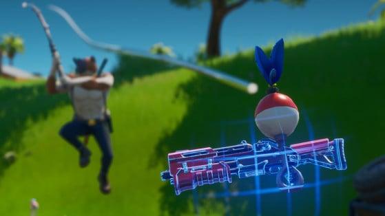 Fortnite: Captura un arma, una lata y un pez, desafío de Travesuras de Miaúsculos