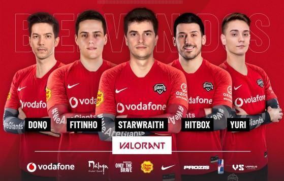 VALORANT: Vodafone Giants presenta su equipo, con jugadores históricos del CS:GO español