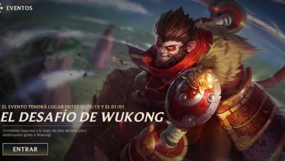 El desafío de Wukong nos permite conseguirlo gratis - Wild Rift