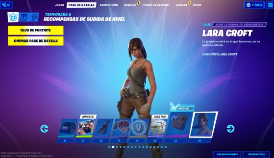 Tier 15 - Traje: Lara Croft - Fortnite : Battle royale