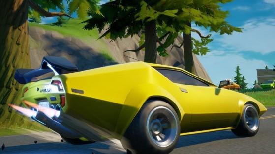 Fortnite: Mantén una velocidad de 65 o más durante 4 segundos en un vehículo, desafío Semana 5
