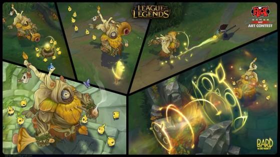 Así serían las habilidades de esta skin de Bardo Imán de Pollos - League of Legends