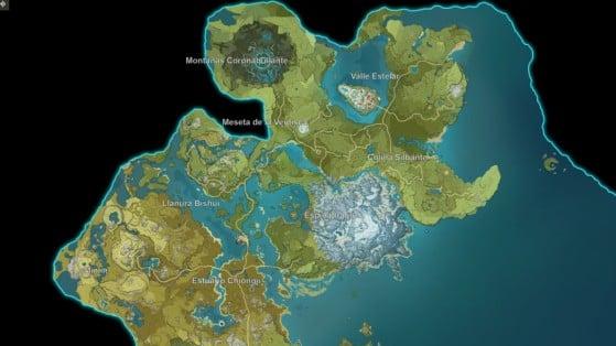 Podemos navegar libremente opr el mapa... - Genshin Impact
