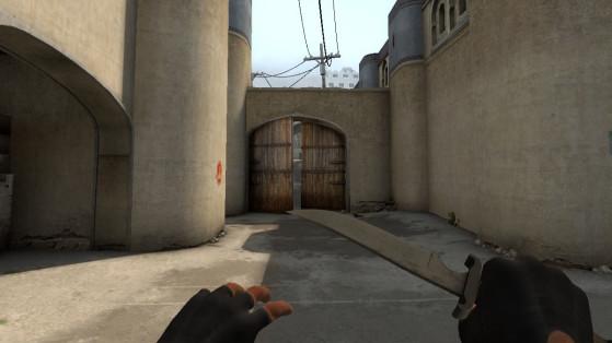 La vieja línea de visión era peligrosa para los defensores. - Counter Strike : Global Offensive