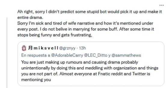La pareja de Bwipo se vio afectada por los comentarios de muchos fans de Fnatic - League of Legends