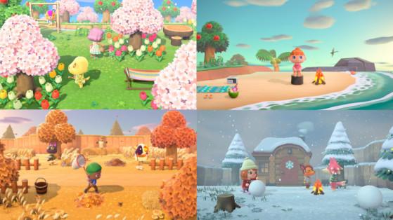 Animal Crossing: New Horizons: las estaciones y sus diferencias