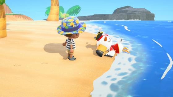Animal Crossing New Horizons: Gulliver pirata y todos sus regalos y muebles pirata