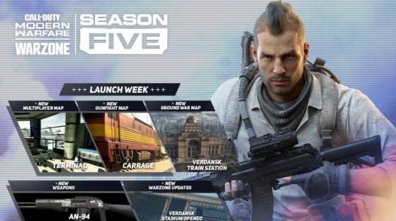 Modern Warfare y Warzone - Temporada 5: Predicción de novedades, armas, cambios en el mapa y más