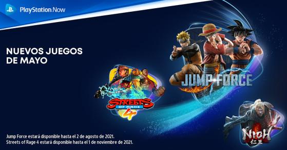 Jump Force, Nioh y Streets of Rage 4 se incorporan al catálogo de PlayStation Now