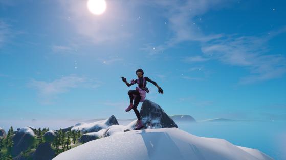 Fortnite: Baila en la cima del Monte H7, el Monte F8 y el Monte Kay, desafío