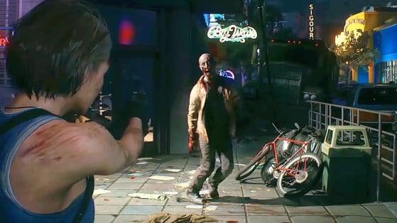 No tiene sentido matarlo a menos que haya objetos para recoger cerca. - Resident Evil 3 Remake