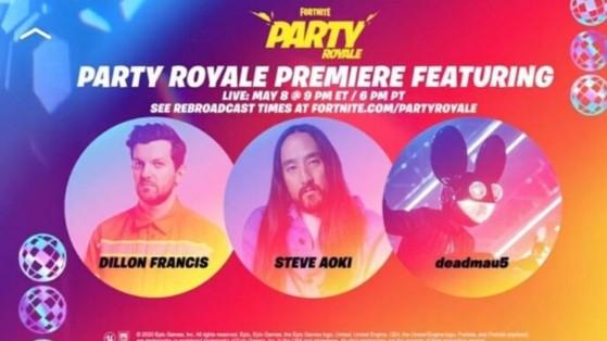 Fortnite: concierto de Deadmau5, Dillon Francis, Steve Aoki, fecha y hora de Fiesta Magistral