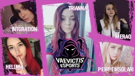 La plantilla femenina de Vaevictis Esports en el lanzamiento del LCL Summer Split 2019 - League of Legends