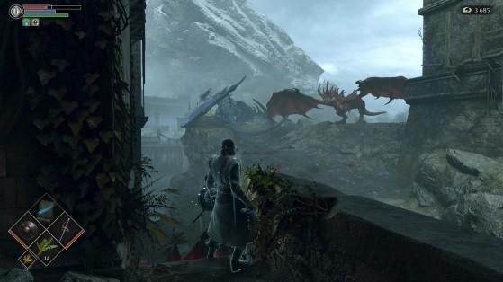 Hay muchos regalitos ahí, pero esos dragones dan mucho miedo. - Demon's Souls
