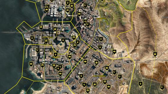 Cyberpunk 2077: Mapa interactivo de Night City con todos los secretos, loot, misiones y más