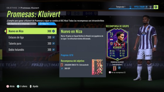 FIFA 22 - Kluivert OTW, objetivos para conseguir gratis a este MI para vuestro equipo de FUT