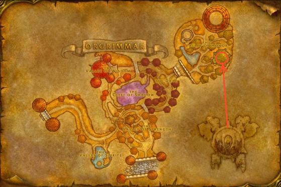Localización de Brakgul en Ogrimmar - WoW : Classic