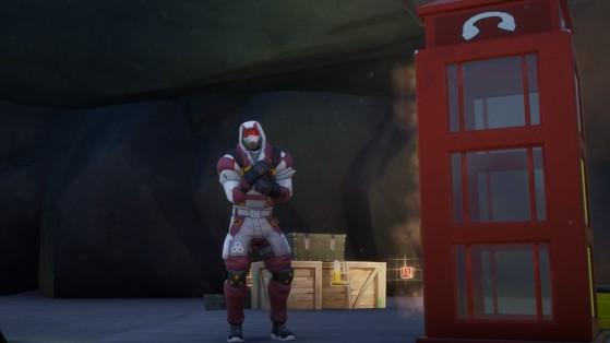 Fortnite: Disfrázate dentro de una cabina telefónica en partidas distintas, desafío