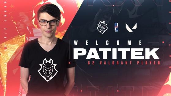 VALORANT: Patitek, el primer compañero de Mixwell en G2 Esports, fue baneado de CS:GO por tramposo