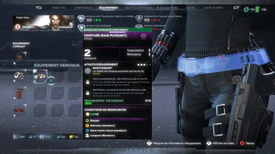 El efecto de un equipo en nuestros niveles también se muestra en la parte superior de la pantalla en verde o rojo. - Marvel's Avengers