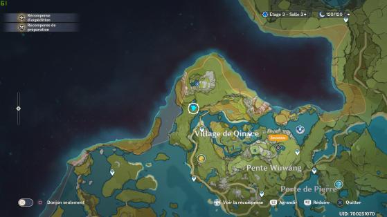 ¿Dónde está la cascada en el mapa? - Genshin Impact