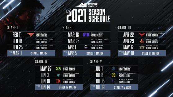Call of Duty League: Este es el calendario completo de las Home Series 2021