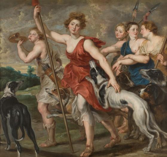 Diana (nombre latino de Artemisa) cazadora, un cuadro de Rubens que está expuesto en el Museo del Prado. - League of Legends