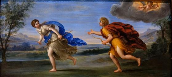 Apolo y Dafne, un cuadro de Albani expuesto en el Louvre de París. - League of Legends