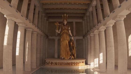 Reconstrucción de la escultura de Atenea creada por Fidias. - League of Legends