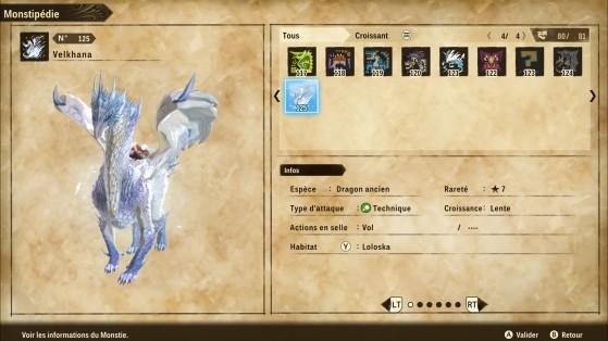 Ficha de Velkhana - Monster Hunter Stories 2: Wings of Ruin