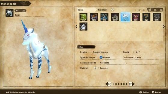 Ficha de Kirin - Monster Hunter Stories 2: Wings of Ruin