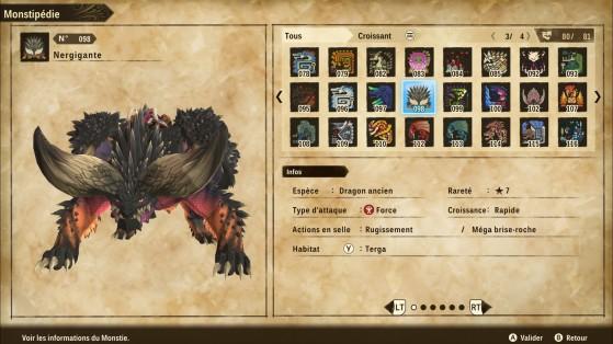 Ficha de Nergigante - Monster Hunter Stories 2: Wings of Ruin