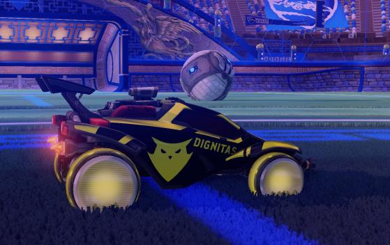 Octane oficial de Dignitas en la colección de esports de Rocket League - Millenium