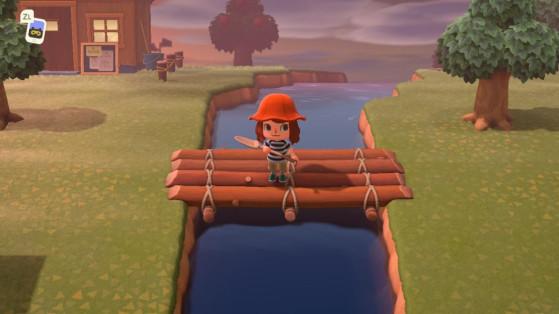 Animal Crossing: New Horizons - construir puentes para superar ríos