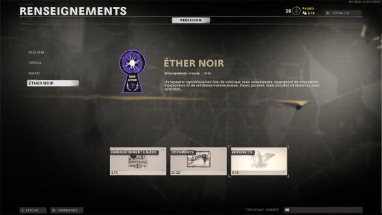 Black Ops Cold War: Ubicación de las informaciones del Éter Oscuro del modo Zombis, guía