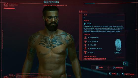 Será por sliders a la hora de personalizar nuestro V. - Cyberpunk 2077
