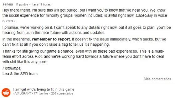 Al menos, desde Riot Games aseguraron que trabajan en resolver este problema - Valorant
