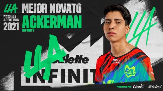 Ackerman fue elegido como el novato del split Apertura. - League of Legends