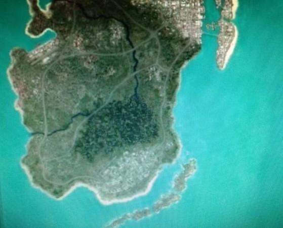 El supuesto mapa filtrado. - GTA 6