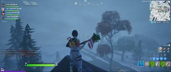 Fortnite está cubierto de nieve y de ventiscas